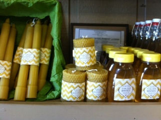 The Turton's Honey and Beeswax candles