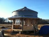 Cabin coming along.