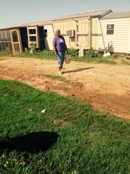 Shonna making an Egg run